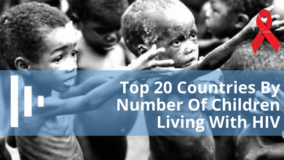 Top 20 Countries By Number Of Children Living With HIV - Databod
